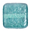 Glass Bead Squares 8mm Two-Tone Sugar Teal Green - Strung